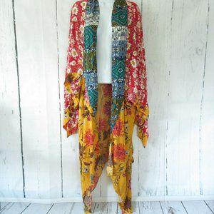 Umgee Duster Kimono Cardigan Floral Boho Plus Size